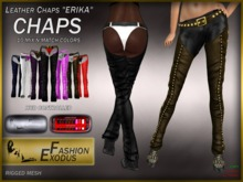 EF - leather chaps Erika, 8 mix'n'match colors with HUD DEMO