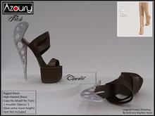 AZOURY - Fetish Hight-Heeled Shoes (Chocolat)