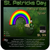 ♣♣♣  St. Patrick's Day – Patty's Pot o' Gold Tipjar ♣♣♣
