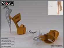AZOURY - Fetish Hight-Heeled Shoes (Retro Gold)