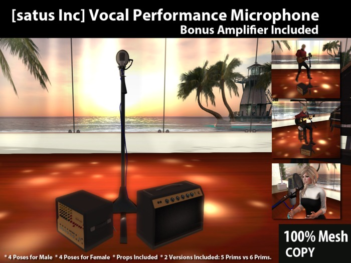 [satus Inc] Vocal Performance Microphone