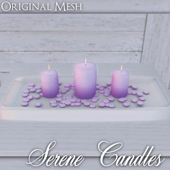 ::: Krystal ::: Serene Candles - Purple