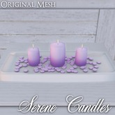 ::: Krystal ::: Serene Candles - Purple