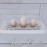 ::: Krystal ::: Serene Candles - Sand
