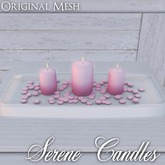 ::: Krystal ::: Serene Candles - Pink
