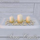 ::: Krystal ::: Serene Candles - Blue