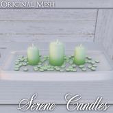 ::: Krystal ::: Serene Candles - Green