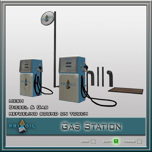 PRIMOIL Gas Station Set - PRIMOIL