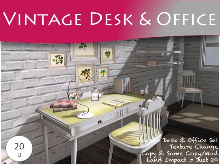 MOCO EMPORIUM ~ Vintage Writing Desk/Office Set v1