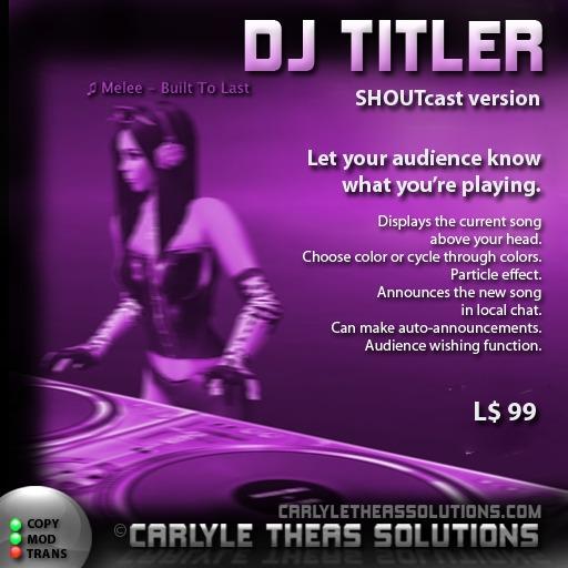(CTS) DJ Titler v1.18 (SHOUTcast)