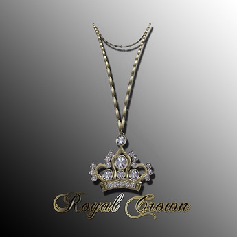 Lady's  Royal Crown Necklace GOLD