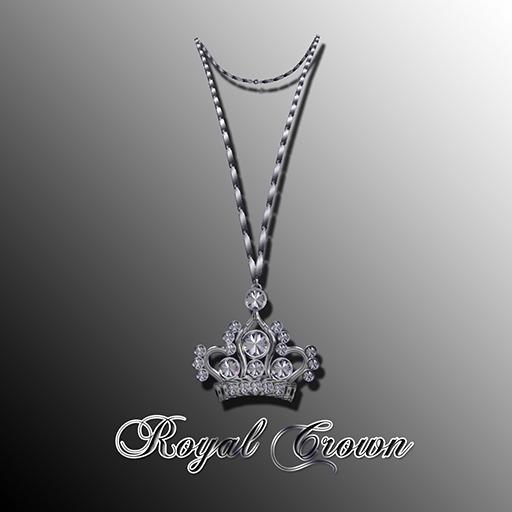 Lady's  Royal Crown Necklace PLATINUM