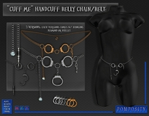 POMPOSITY - Cuff Me Handcuff Belly Chain / Belt - BOXED - Waist Chain, Stomach
