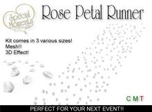 Rose Petal Runner (White) - Mesh! Promo Price!