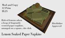 Lemon Soaked Paper Napkins