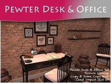 MOCO EMPORIUM ~ PEWTER Writing Desk/Office/Study Set v1