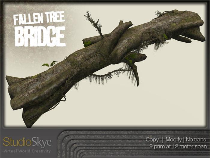 NEW+ Fallen Tree Bridge from Studio Skye 100% MESH