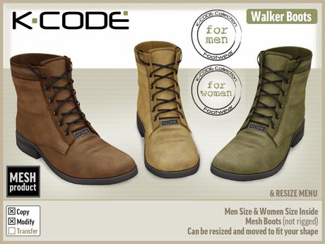 K-CODE WALKER DEMO - unisex mesh boots