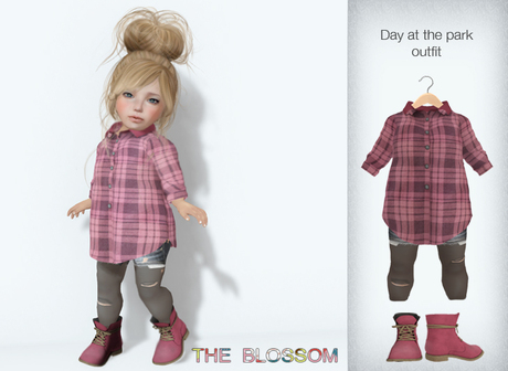 .The Blossom. Day at the park outfit for Toddleedoo avatars only!