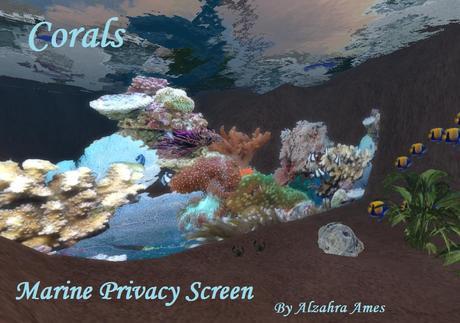 Marine Privacy Screen (coral reef) (aquarium decoration)