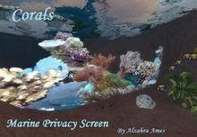 Marine Privacy Screen (coral reef) (aquarium decoration)