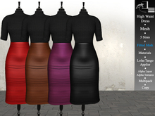 DE Designs - High Waist Dress w/ fitted mesh - Leather Multipack