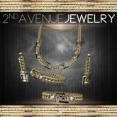Greek Keys Jewelry Set Gold [BOX]