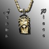Jesus Piece Chain Gold N Black