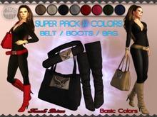!FP! Super Pack 8 colors - Boots Belt and Bag - Basic Colors