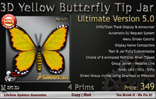 Butterfly Tip Jar (Yellow) - Ultimate Version (Mesh)