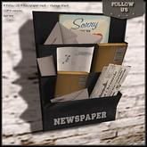 Special offer Marketplace !! Follow US !! Newspaper rack - Vintage black COPY version