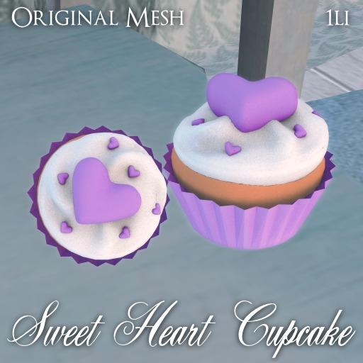 ::: Krystal ::: Sweet Heart Cupcake - Purple