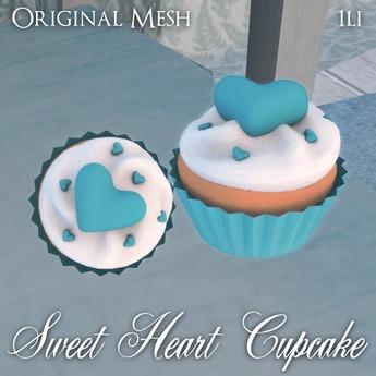 ::: Krystal ::: Sweet Heart Cupcake - Blue