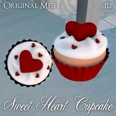 ::: Krystal ::: Sweet Heart Cupcake - Red