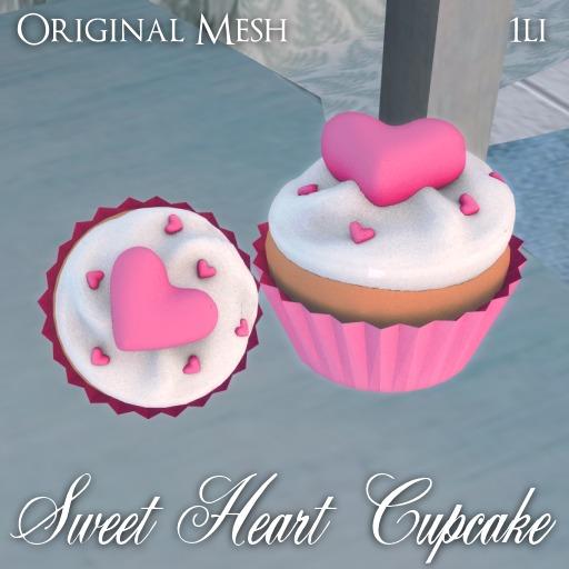 ::: Krystal ::: Sweet Heart Cupcake - Pink