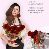 Aphrodite red roses bouquet for her- Valentine gift!
