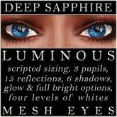 Mayfly - Luminous - Mesh Eyes (Deep Sapphire)