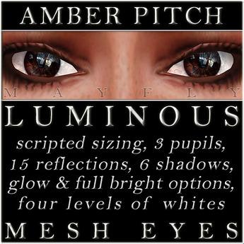 Mayfly - Luminous - Mesh Eyes (Amber Pitch)