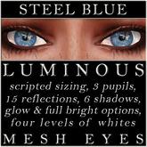 Mayfly - Luminous - Mesh Eyes (Steel Blue)