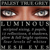 Mayfly - Luminous - Mesh Eyes (Palest True Grey)