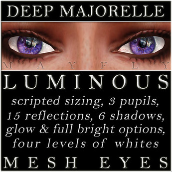 Mayfly - Luminous - Mesh Eyes (Deep Majorelle)