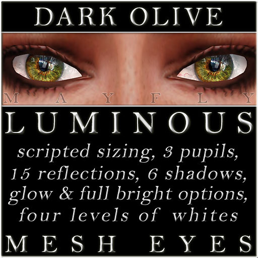 Mayfly - Luminous - Mesh Eyes (Dark Olive)
