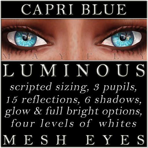 Mayfly - Luminous - Mesh Eyes (Capri Blue)