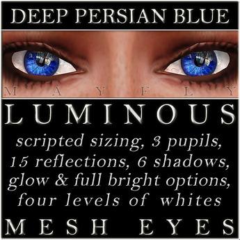 Mayfly - Luminous - Mesh Eyes (Deep Persian Blue)