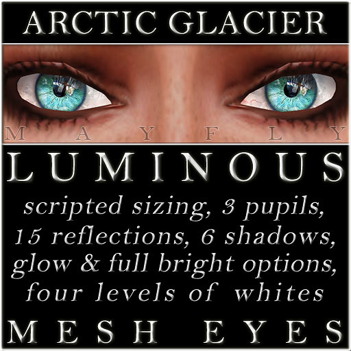 Mayfly - Luminous - Mesh Eyes (Arctic Glacier)