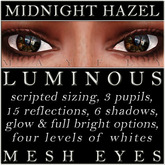 Mayfly - Luminous - Mesh Eyes (Midnight Hazel)