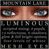 Mayfly - Luminous - Mesh Eyes (Mountain Lake)