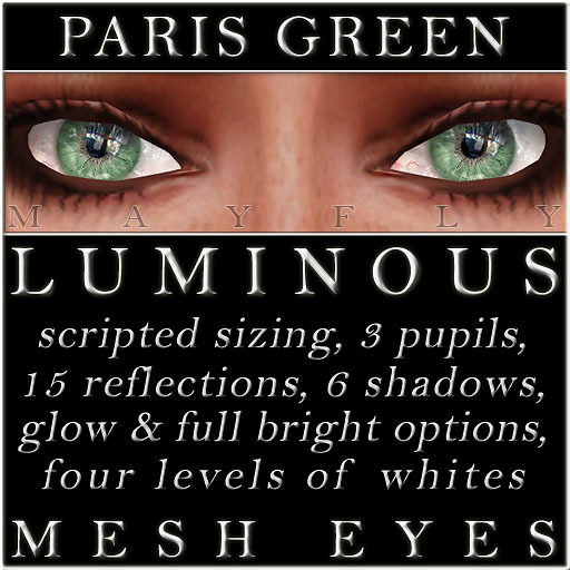 Mayfly - Luminous - Mesh Eyes (Paris Green)