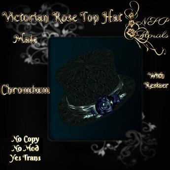 NSP Victorian Rose Top Hat (M) (Chromium) boxed
