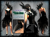 CROW DRESS ★ The asymmetrical black dress with the beak mask of a crow